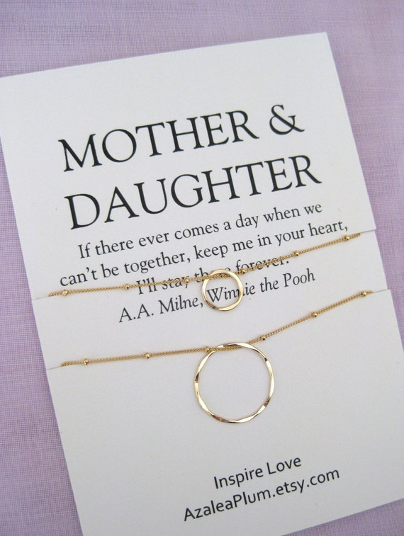 Mother Daughter Necklace Mom Birthday Gifts