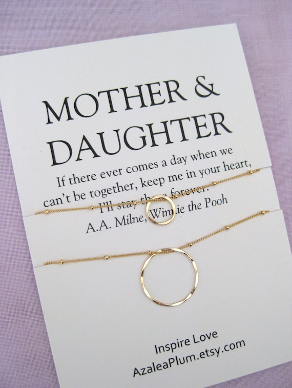 Mother Daughter Necklace Mom Birthday Gifts Delicate Gold Eternity Jewelry