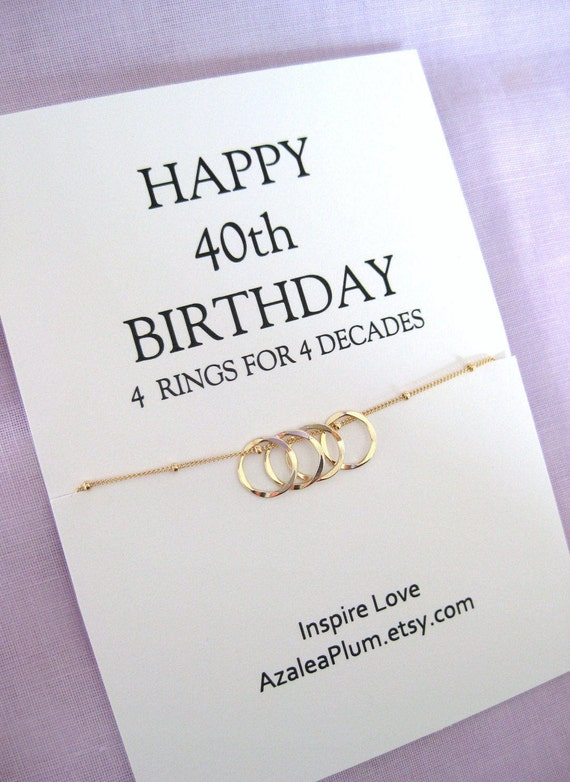 40th Birthday Gifts 14k Gold Filled 40th Birthday Gift For