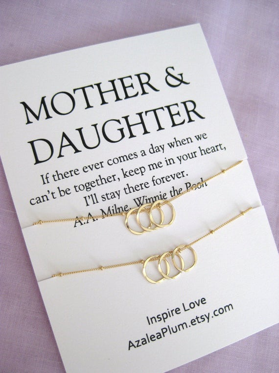 Mother Daughter Necklace Mom Gift Birthday