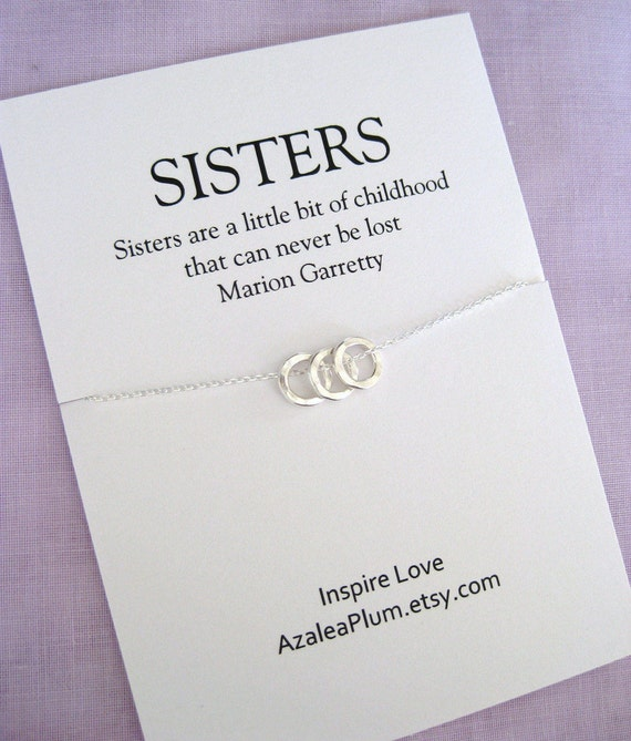 30th Birthday For Her Solid Sterling Silver Necklace SISTERS