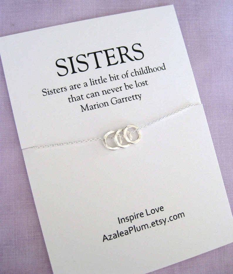 30th Birthday For Her Solid Sterling Silver Necklace SISTERS Sister Gift Gfit
