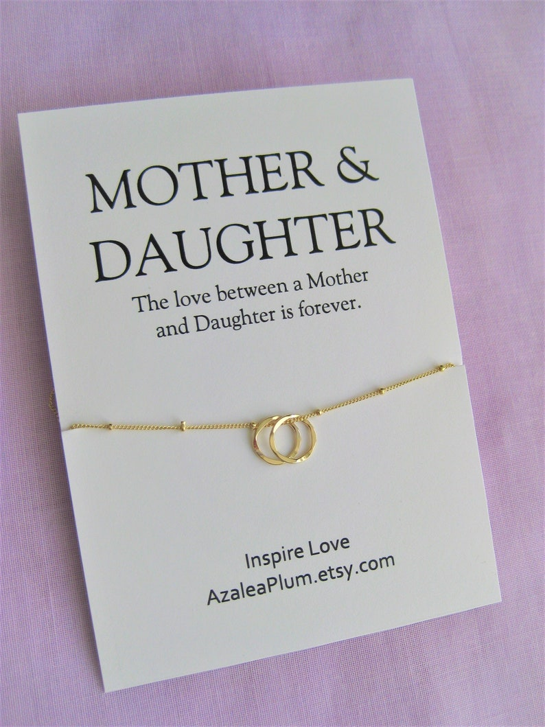 Mother Daughter Necklace Mom Gift