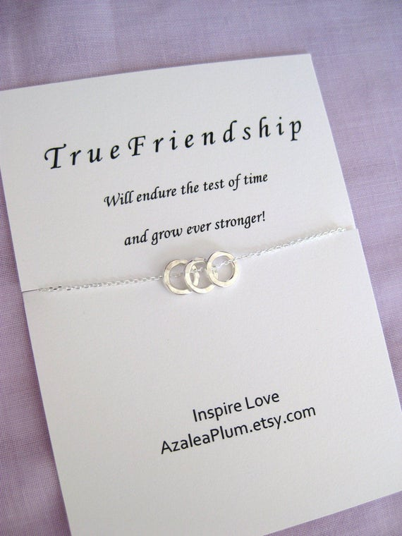Best Friend Gift Solid Sterling Silver Necklace