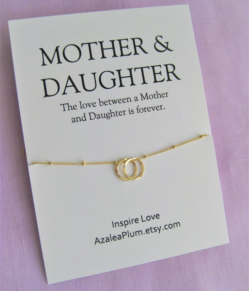 Mother Daughter Necklace Mom Birthday Gift 50th