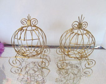 Small Cinderella Carriages (Set of 2) for Birthday or Baby Shower Decorations