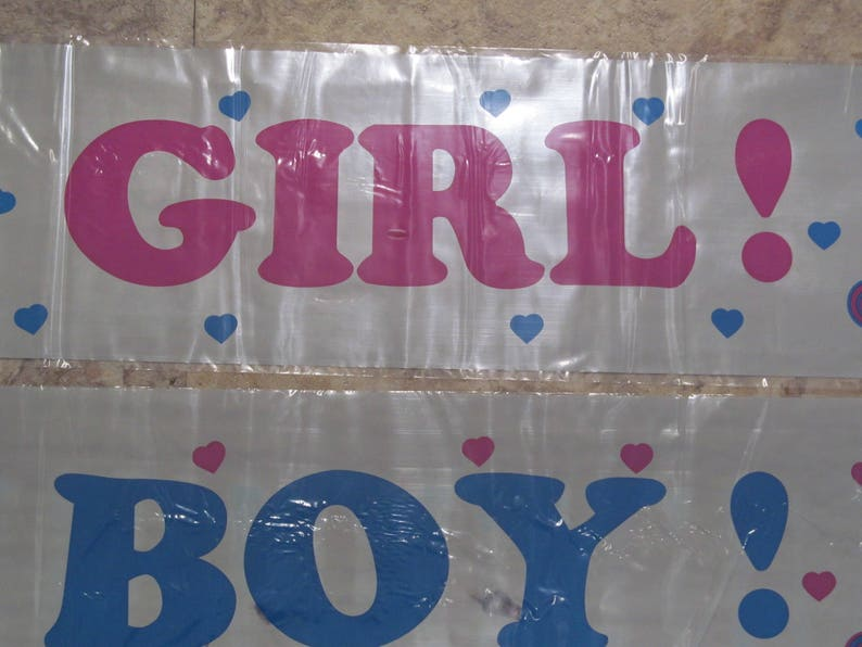 Baby Shower Party Banner  It's a Girl  It's a Boy image 0