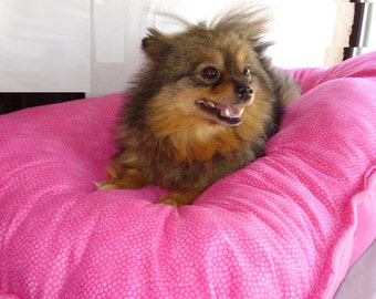 Pink Dog Pillow and Dog Blanket - ***PLEASE READ AD for Details and Dimensions