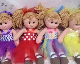 """Adorable Rag Doll - These 12"""" Tall Rag Dolls are Perfect for Any Little Girl - Lots to Choose From! (#binB)"""