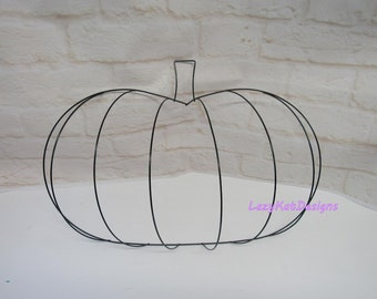 Halloween Pumpkin Metal Wire Form - Great to Make Pumpkin Wreaths or Fall Projects - ***Please Read Ad for Size Details