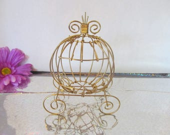 Mini Antique Cinderella Carriage for Baby Shower or Birthday Centerpiece
