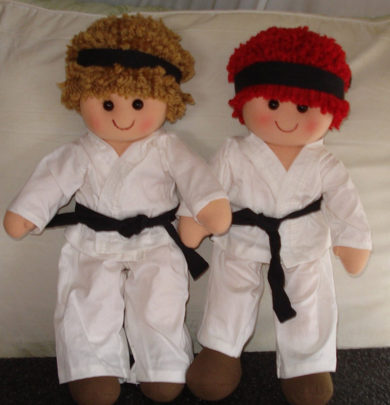 Karate Kid Rag Doll for Boys  4 Hair Colors to Choose From image 0
