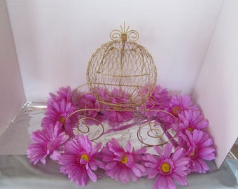 SALE!  15.00 - Antique Cinderella Carriage for Baby Shower or Birthday Centerpiece