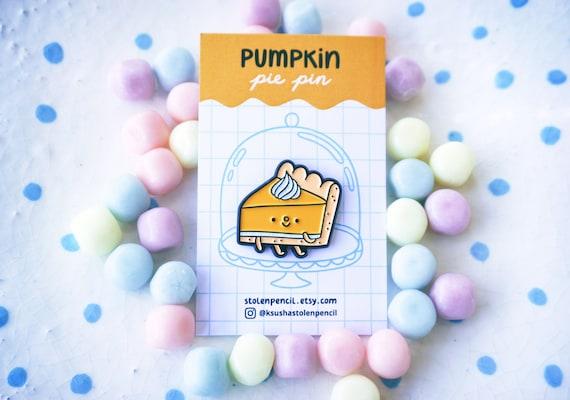 Pumpkin pie enamel pin