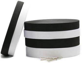 1 Roll Elastic Band-Sewing DIY Cloth Accessories-Black/White Flat Elastic Band For Shoes/Hats/Gloves/Underwears/Braces Skirts/Cuffs/Belts