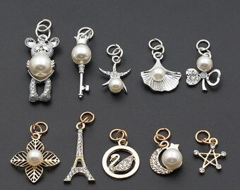 2 Pcs 0.39~1.38 Inches Quality Gold/Silver Pearl Zipper Pulls Sliders For Clothes/Accessories/Bags