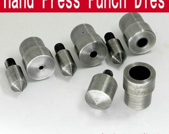 1 Set 1.5mm~25mm Steel Hand Press Punch Dies For Cardboard/Leather/Canvas/Punching
