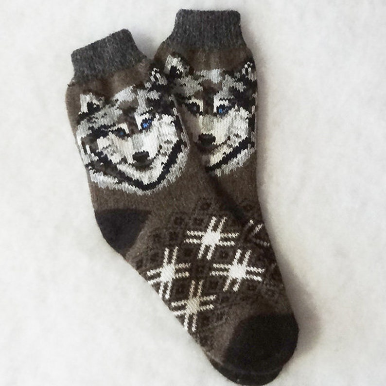 Mens knitted socks Grey wool socks Warm winter socks Organic wool socks Men/'s winter socks Men/'s merino socks Men knit wool socks