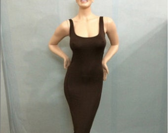8e123fd14b14 Women s Sleeveless Tank Top Holiday Long Dress Casual Party Bodycon Maxi  Dresses Deep Coffee