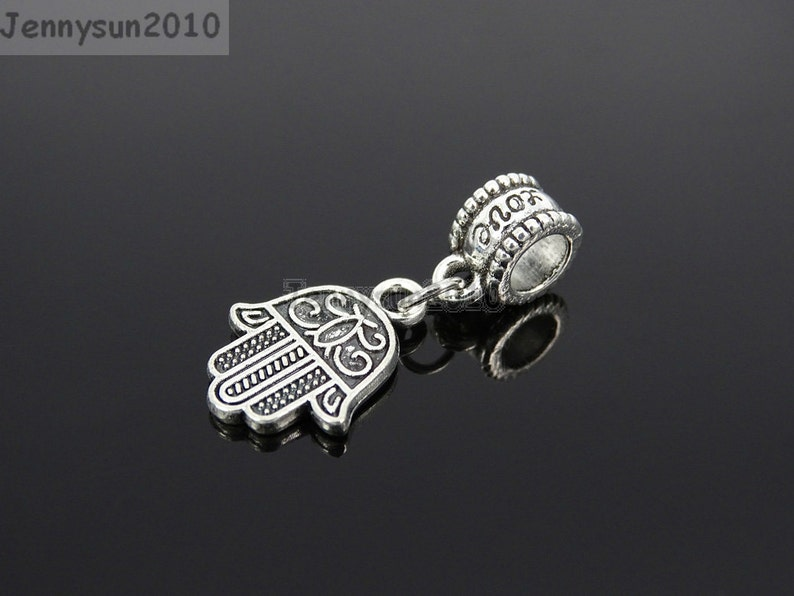 Tibetan Silver//Gold Hole Spacer Connector Beads Charms Pendants Crafts Making