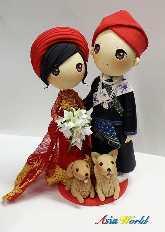 Traditional Mien Wedding Attire Groom And Vietnam Ao Dai Etsy