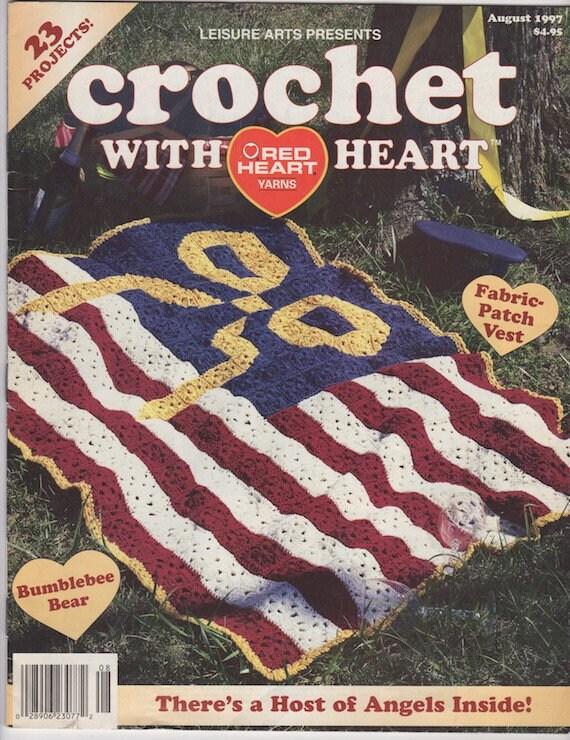 Crochet With Heart Vintage Magazine August 1997 Crochet Etsy