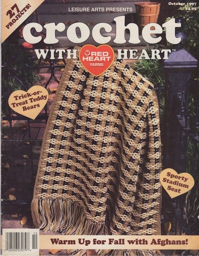 Crochet With Heart Vintage Magazine October 1997 Leisure Etsy