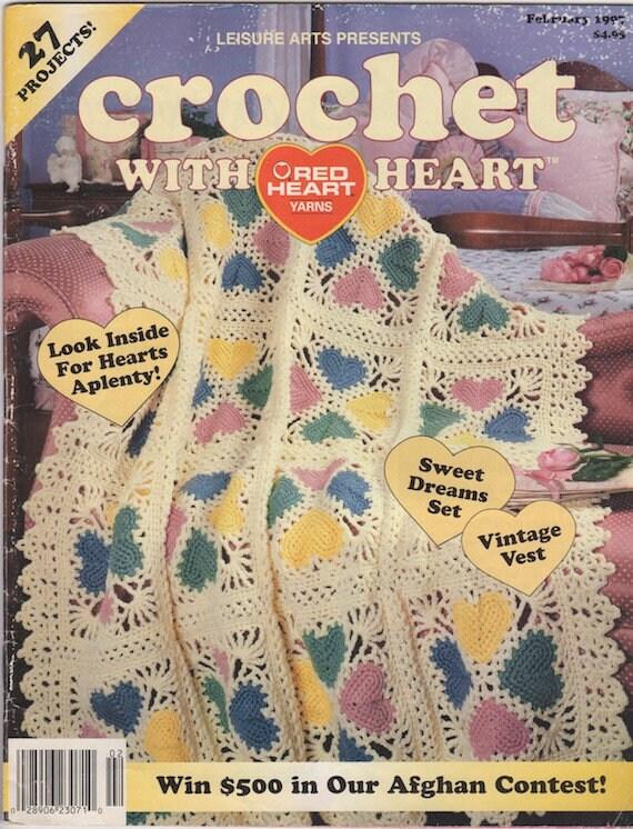 Crochet With Heart Vintage Magazine February 1997 Leisure Etsy
