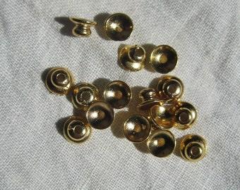 Smooth 6MM 18K Gold Filled Bead Caps, Anti-Tarnish