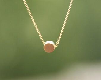 solitaire necklace, minimalist jewelry, minimalist necklace, everyday necklace