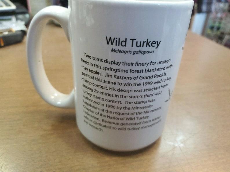 1999 Minnesota Wild Turkey Stamp Coffee Cup Mug