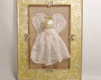 Lace Angel in a Beautiful Frame