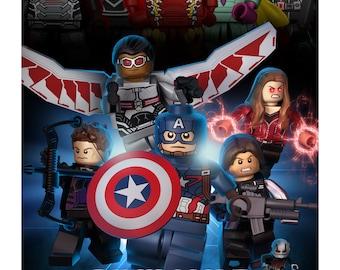Lego Avengers Infinity War Poster   Etsy