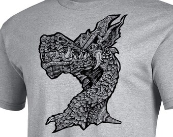 Dragon - Woodblock Printed T-Shirt - Rhaegar