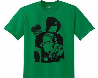 Arrow - Hand-Pressed T-Shirt - Linoleum Block Print