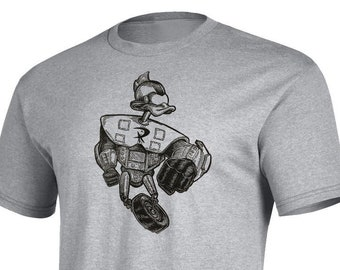 Gizmo Duck - Hand-Pressed Block Printed T-Shirt