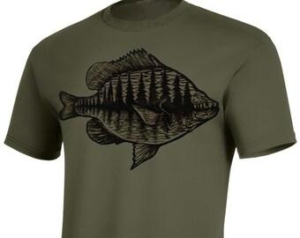 Bluegill - Woodblock Printed T-shirt