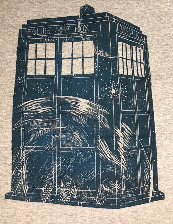 451890bf52b3b TARDIS - Woodblock Printed Shirt