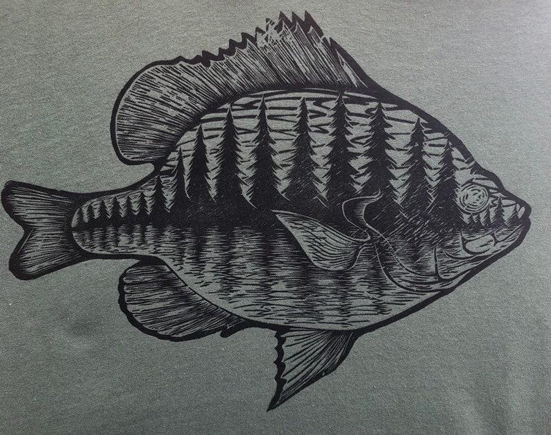 Bluegill  Woodblock Printed T-shirt image 0