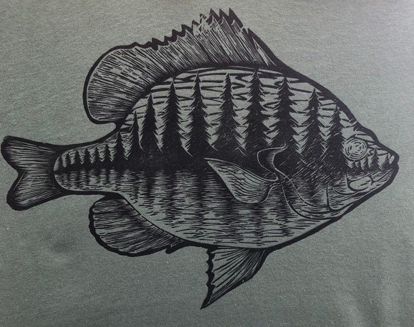 50725449b4ef9 Bluegill - Woodblock Printed T-shirt