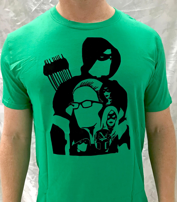 be4e1ec5f4c5f Arrow - Hand-Pressed T-Shirt - Linoleum Block Print