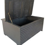 Painted Coffee Table, Storage Trunk ( Black Dog Collection)