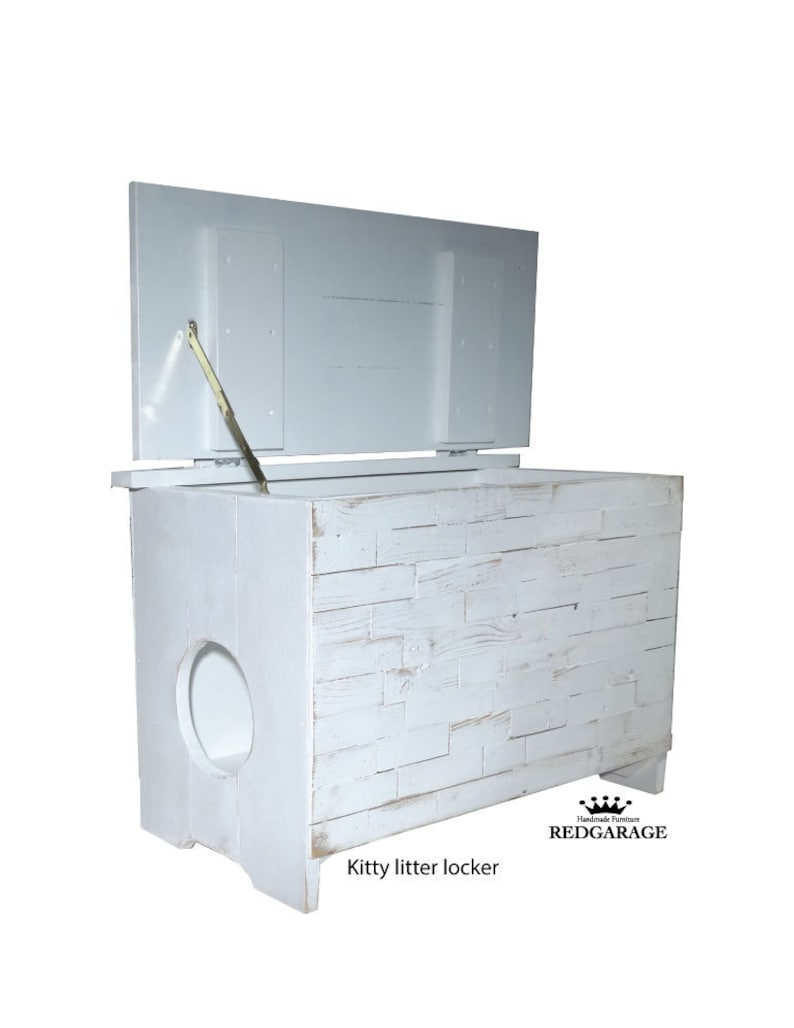 Cat Litter Furniture made with wood and painted finish image 0