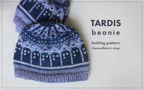Pattern Tardis Beanie From Doctor Who Etsy