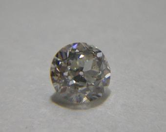 Vintage Loose Round Euro Diamond Gemstone 4.35 x 3   .35 Carats