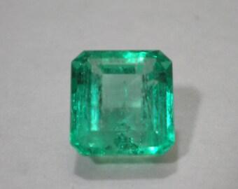 Loose Natural Green Emerald Cut Emerald 2 Carats May Birthstone