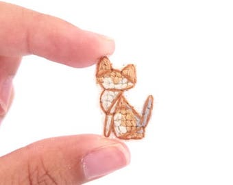 Singapura cat cross stitch pin, gifts for cat lovers, kitten collar pin, cat pin, gifts under 30, gifts for cat moms, tiny cat pin