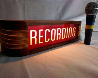 Red Recording Studio warning sign