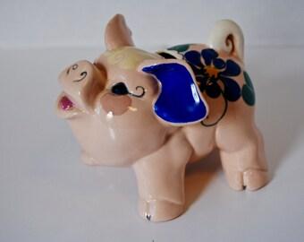 Look at this Wonderful California Kay Finch Pottery Sassy Pig Dime Bank
