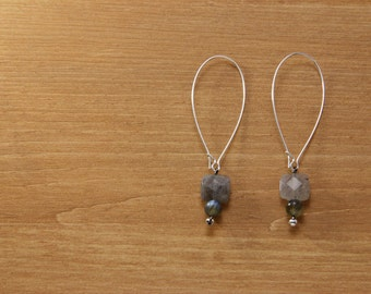 Gemstone dangle earrings - Labradorite
